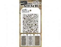 MTHS024 Stampers Anonymous Tim Holtz Layering Stencil - Mini Stencil Set #24